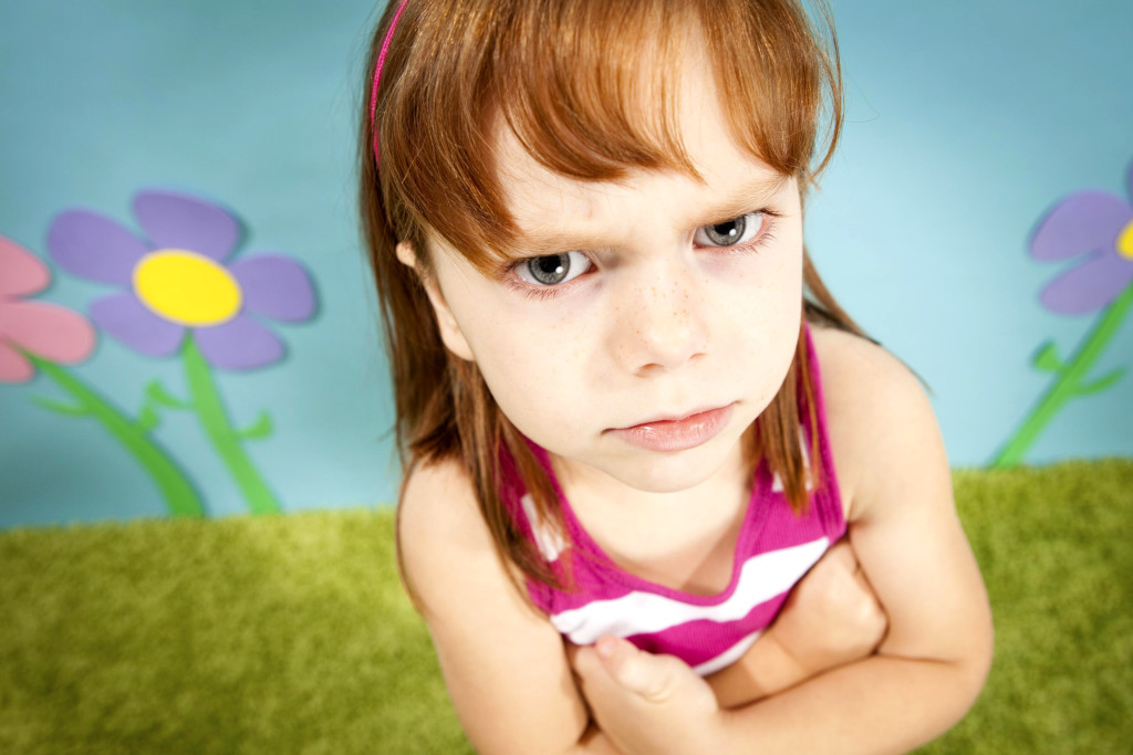 FOR SUNDAY POSTCRIPT ((ROYALTY FREE))  GETTY IMAGES  CAPTION : Angry Little Girl, With Red Hair, in Whimsical World